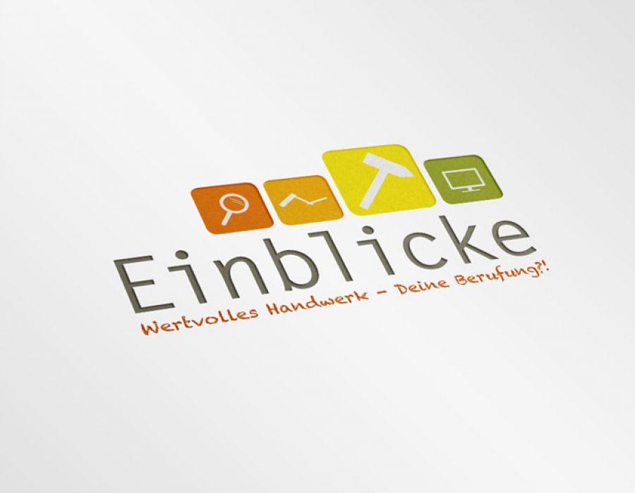 """Gestaltung Logo """"Einblicke"""""""