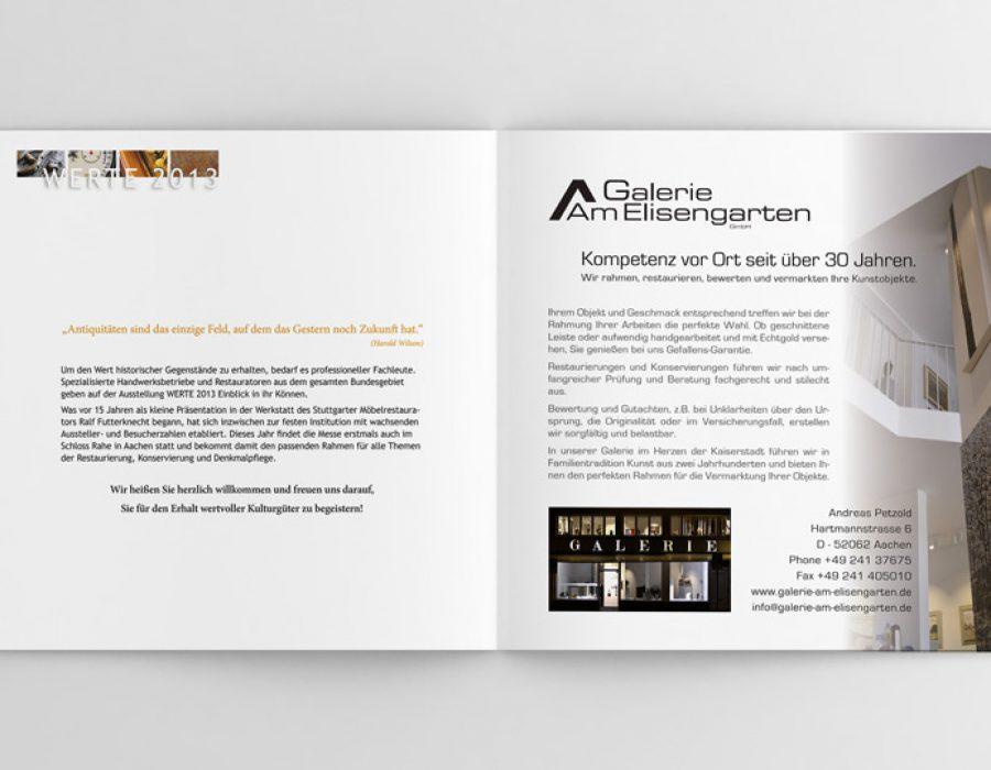 """Anzeigengestaltung """"Galerie am Elisengarten"""""""